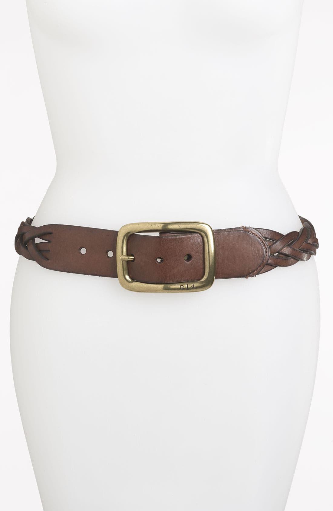 Alternate Image 1 Selected - Lauren Ralph Lauren Braided Belt