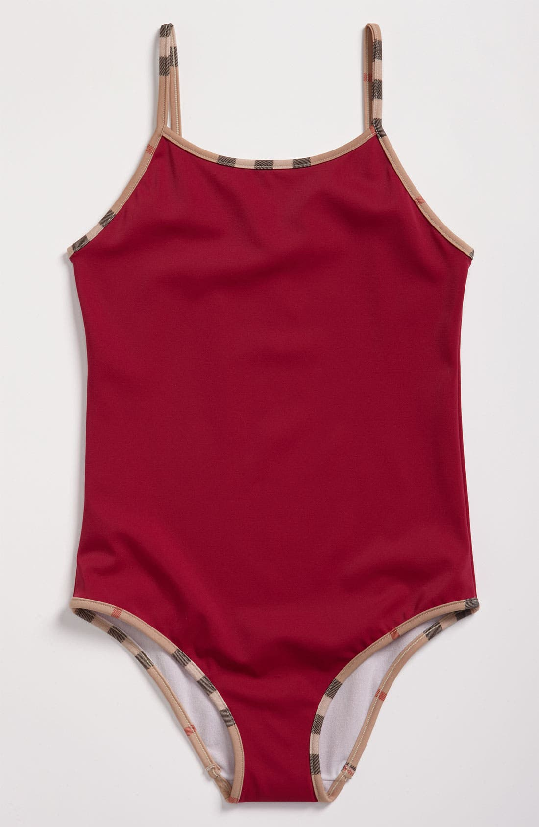 Main Image - Burberry One Piece Swimsuit (Big Girls)