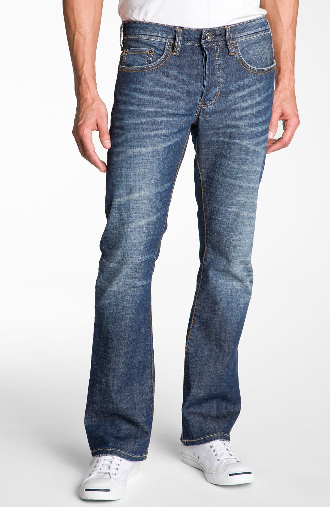 Alternate Image 1 Selected - Buffalo Jeans 'King' Bootcut Jeans (Distressed & Worn)