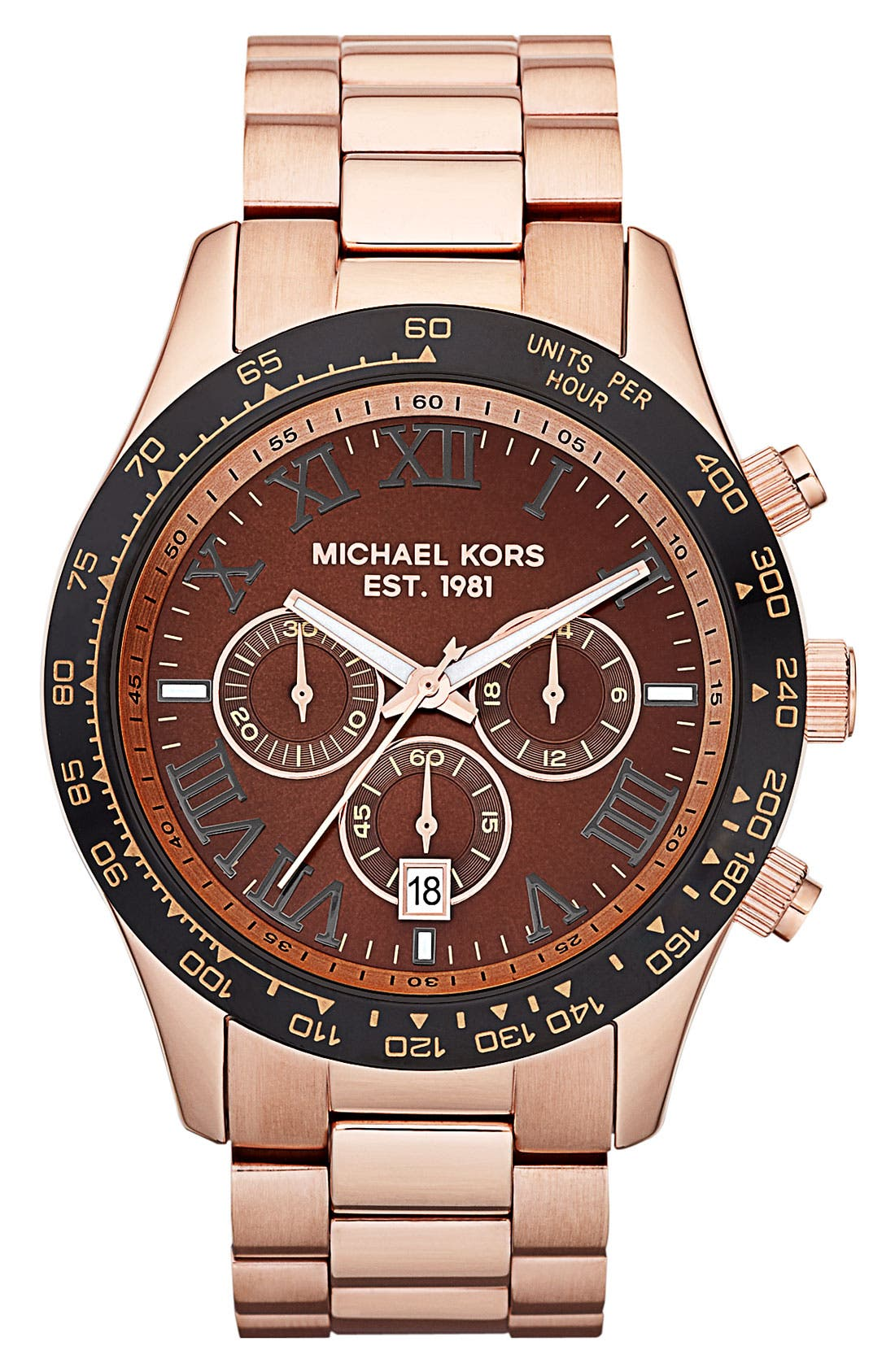 Alternate Image 1 Selected - Michael Kors 'Large Layton' Chronograph Watch
