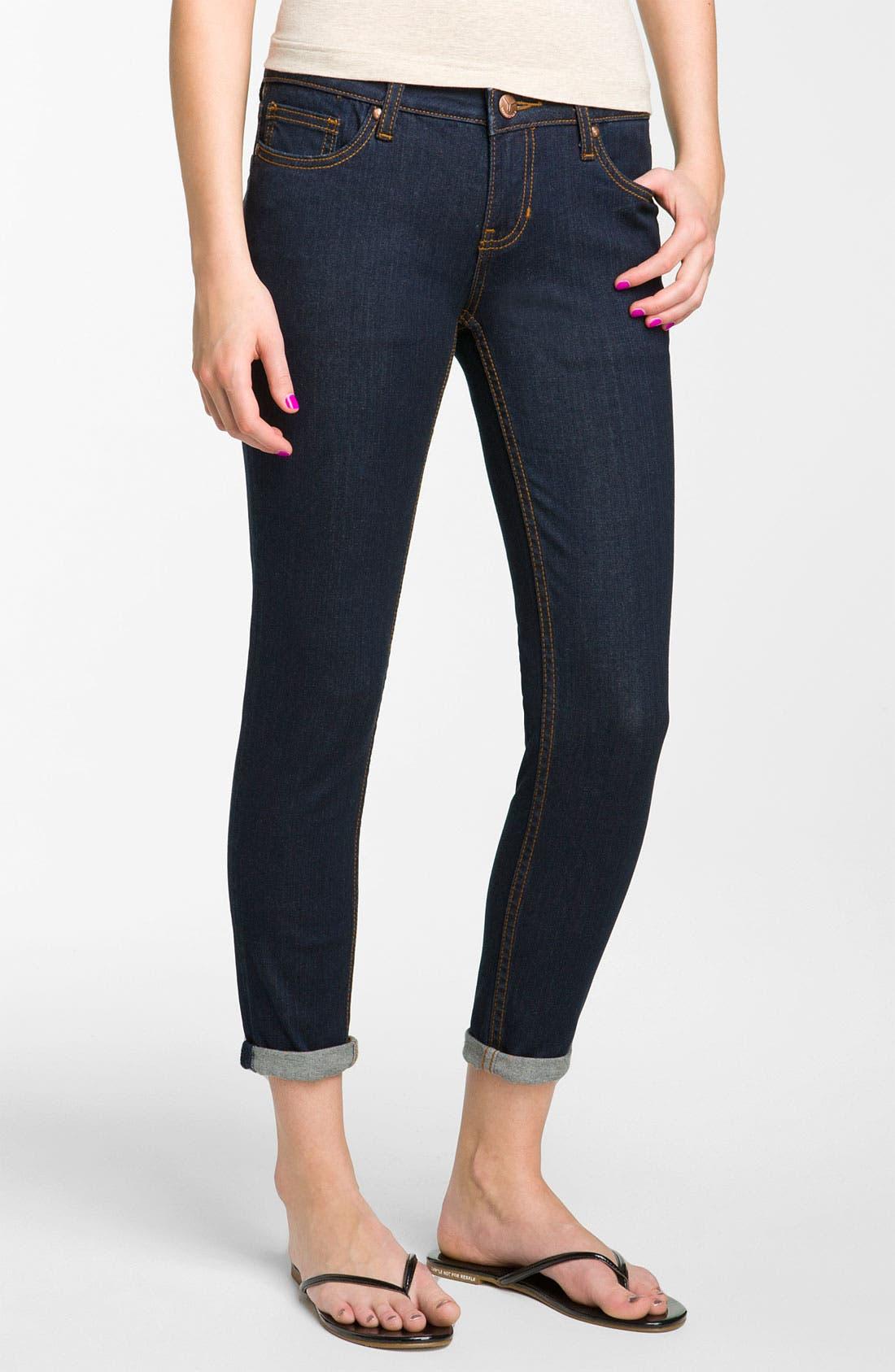 Alternate Image 2  - Vigoss Skinny Crop Jeans (Rinse Wash) (Juniors)