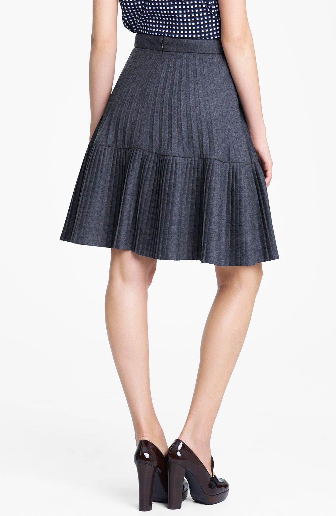 Alternate Image 2  - Marni Edition Pleated Mélange Flannel Skirt