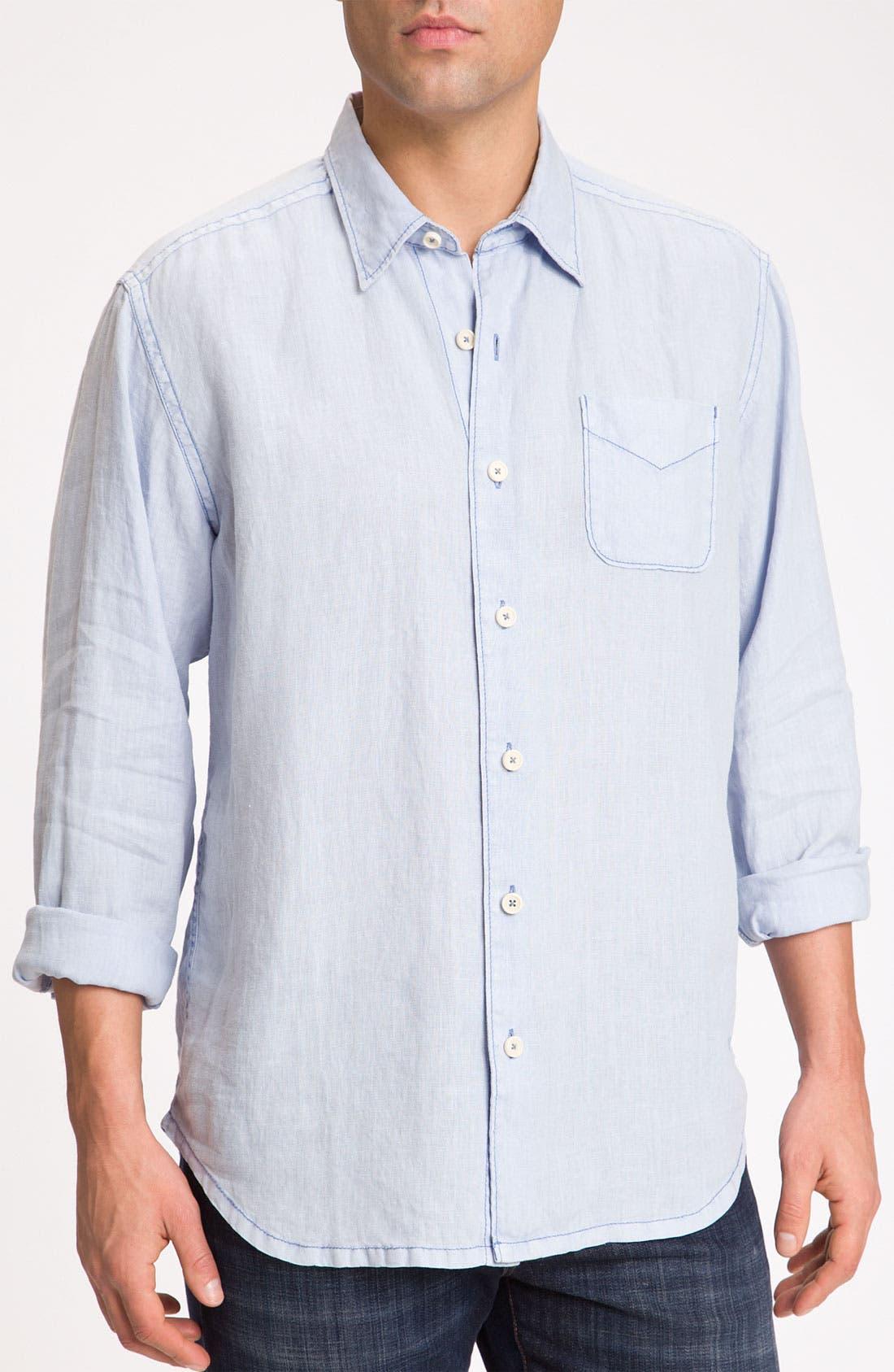 Alternate Image 1 Selected - Tommy Bahama 'Beachy Breezer' Linen Sport Shirt (Big & Tall)
