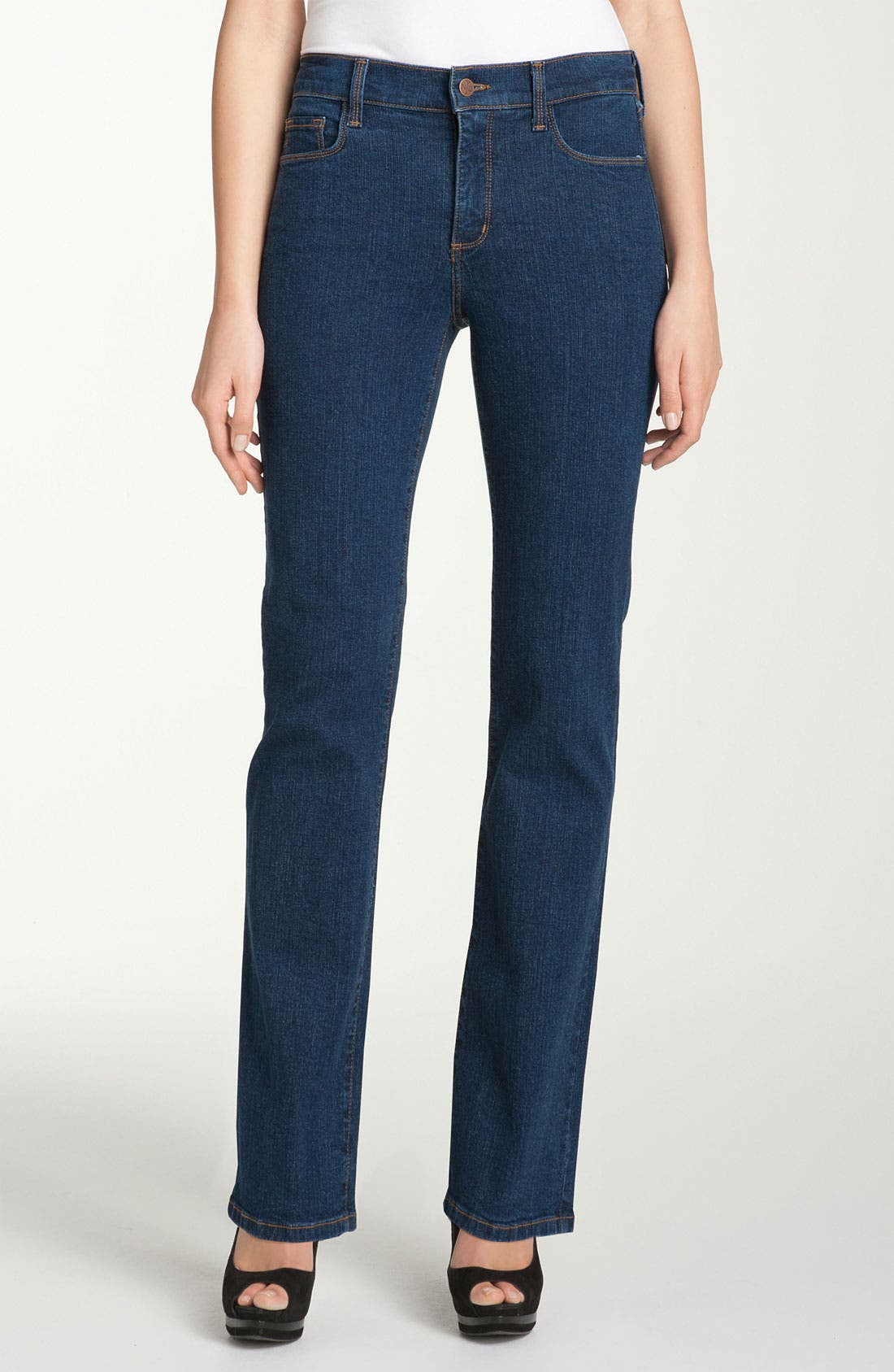 Alternate Image 1 Selected - NYDJ 'Marilyn' Straight Leg Stretch Jeans (Petite)