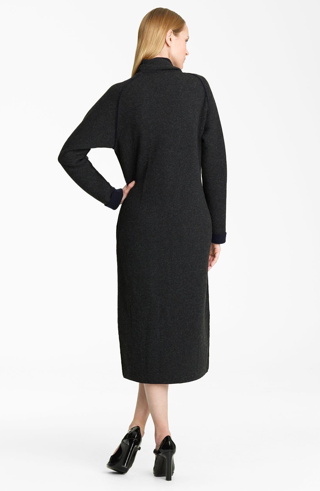 Alternate Image 2  - Lanvin Bicolor Draped Wool Jersey Coat