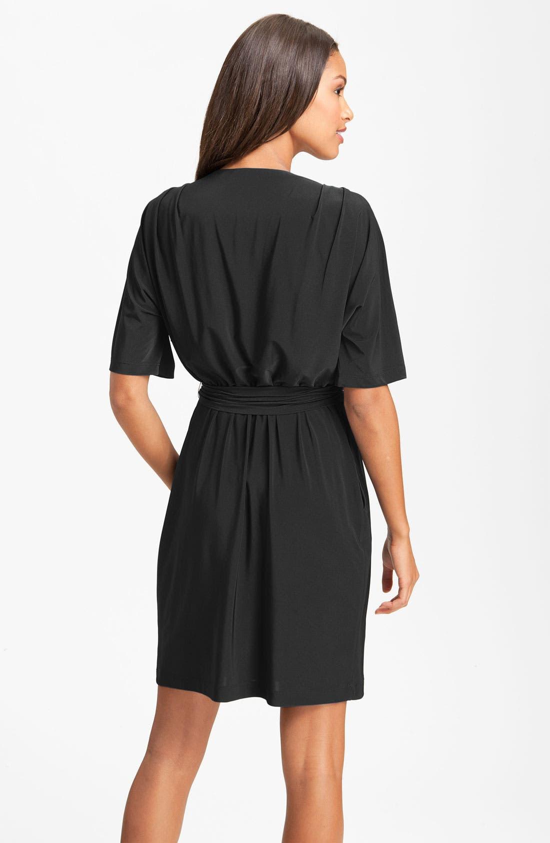 Alternate Image 2  - Eliza J Surplice Jersey Faux Wrap Dress