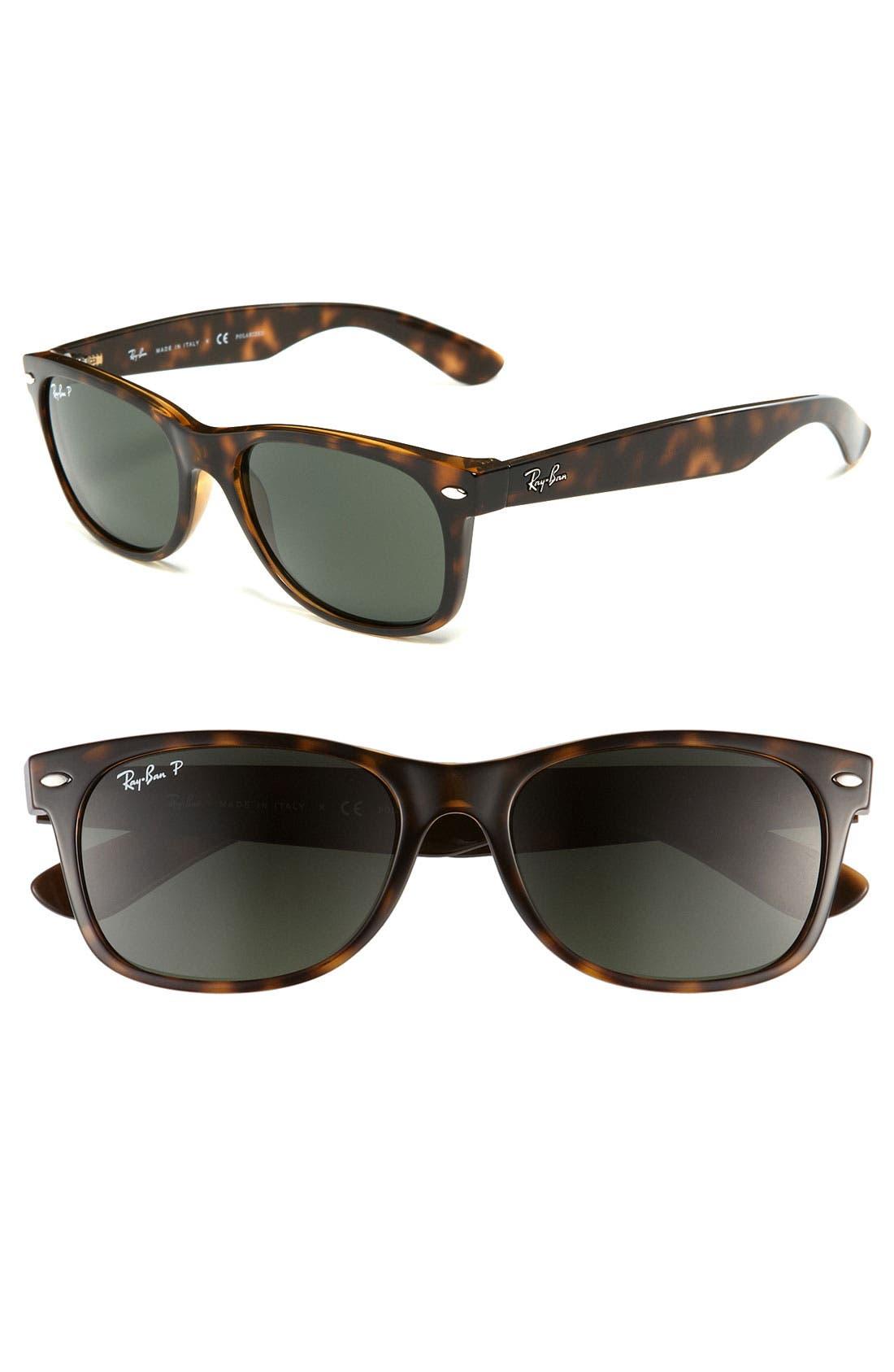 Alternate Image 1 Selected - Ray-Ban Standard New Wayfarer 55mm Polarized Sunglasses