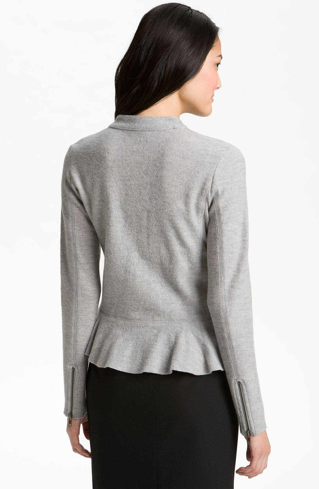 Alternate Image 2  - Halogen® Boiled Wool Peplum Jacket