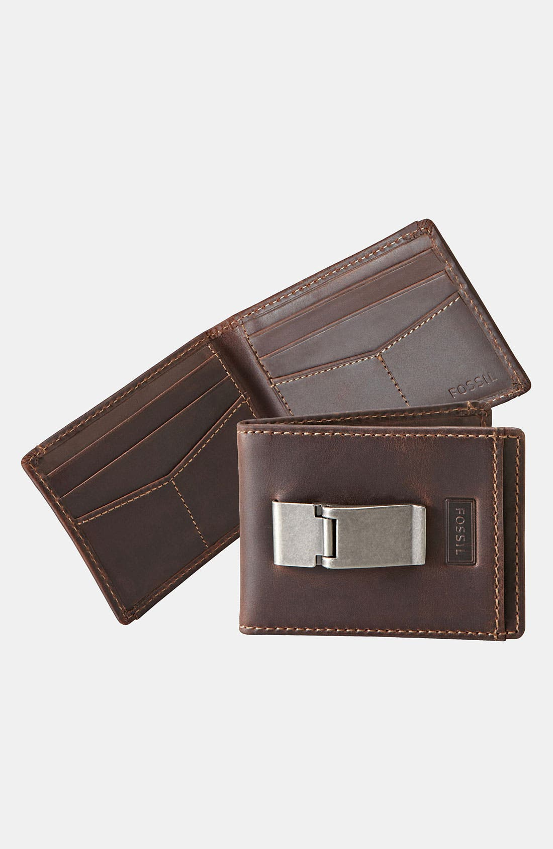 Main Image - Fossil Leather Bifold Wallet