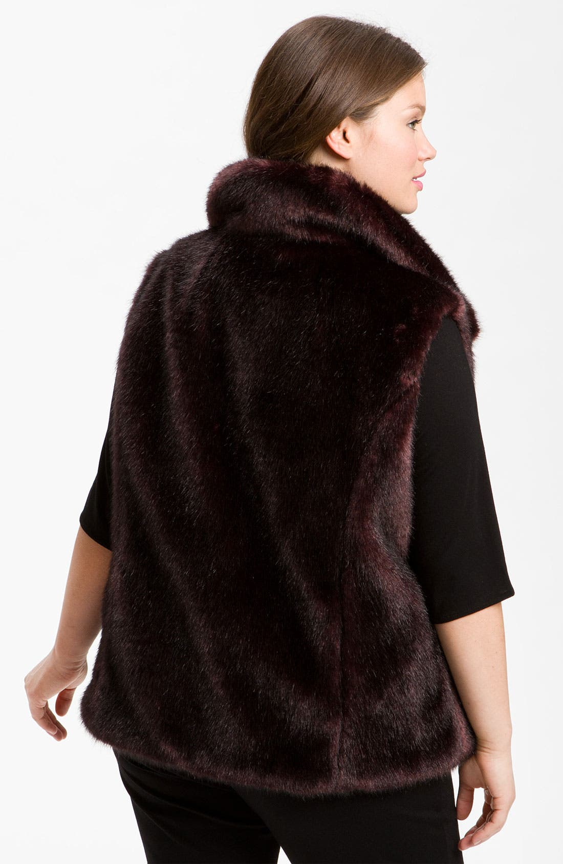 Alternate Image 3  - Gallery Reversible Faux Fur Vest (Plus) (Online Exclusive)
