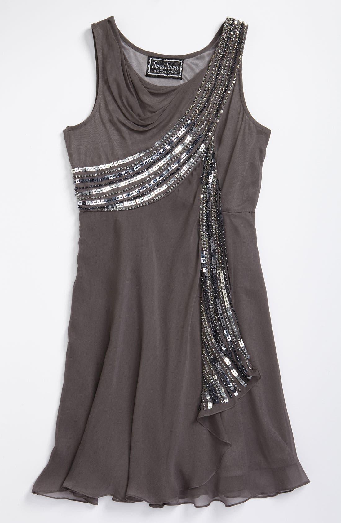 Main Image - Sara Sara Sequin Dress (Big Girls)