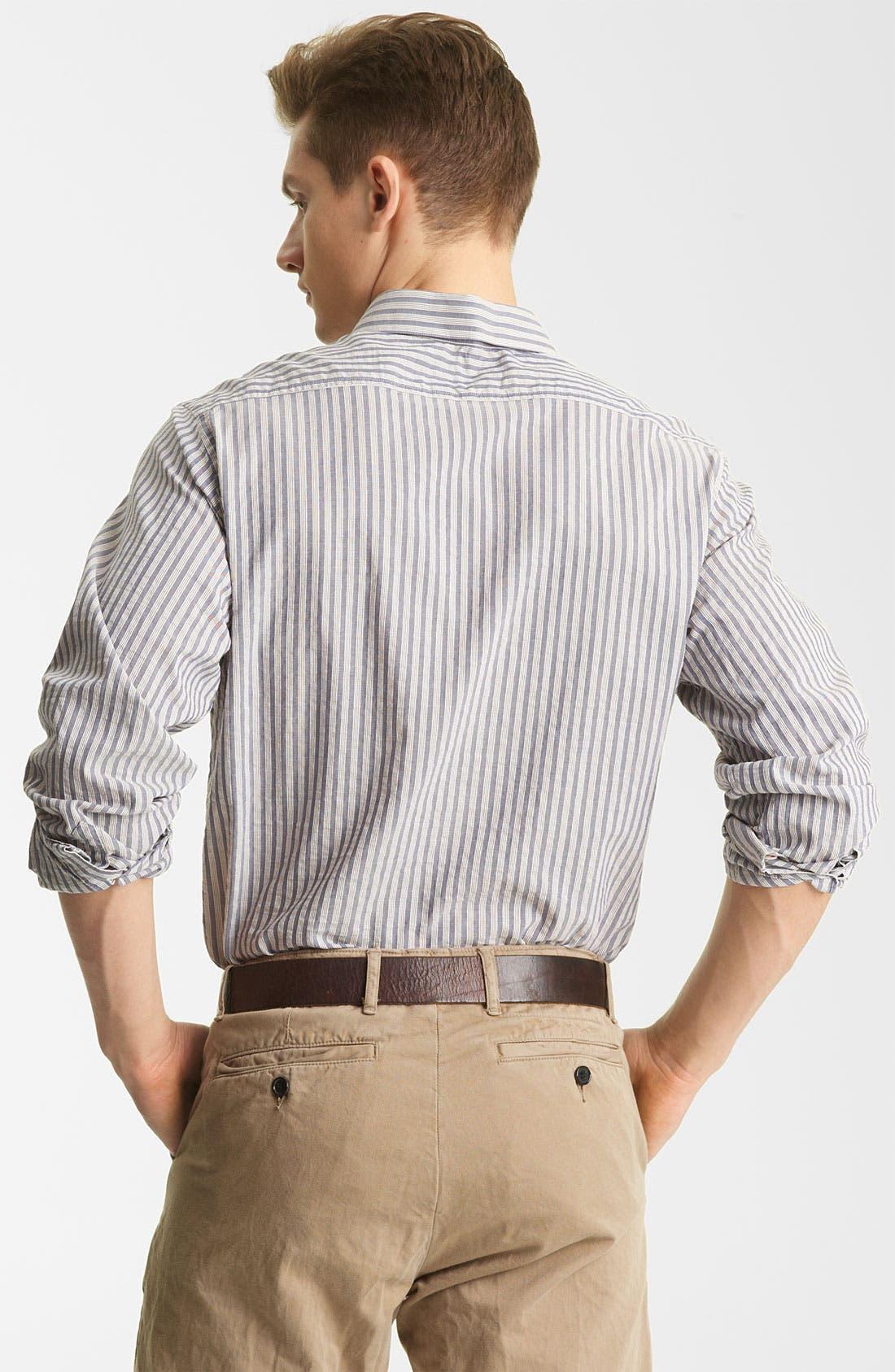 Alternate Image 2  - Billy Reid 'Tuscumbia' Stripe Woven Shirt