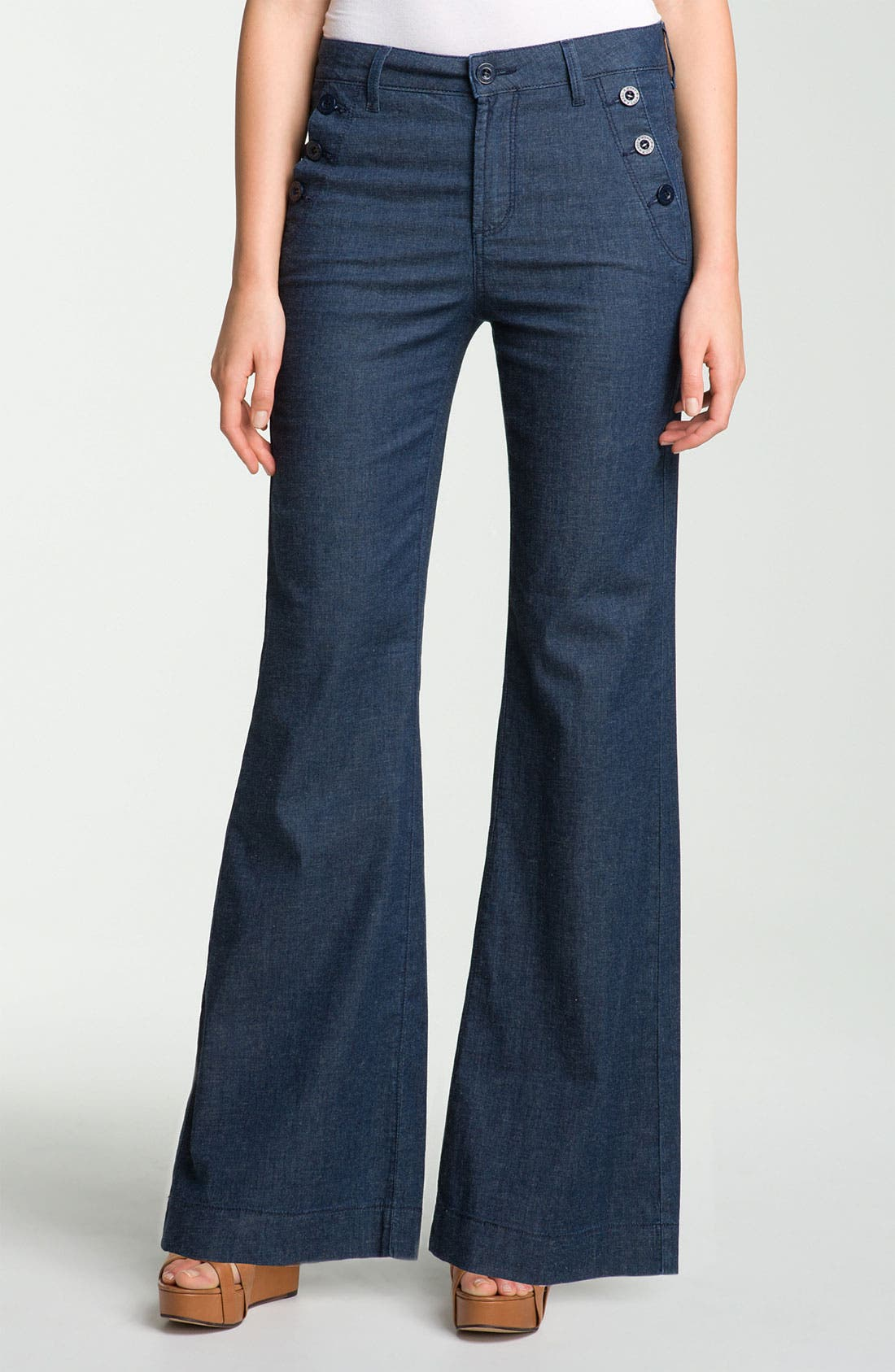 Alternate Image 1 Selected - NYDJ 'Tina Sailor' Wide Leg Jeans (Petite)