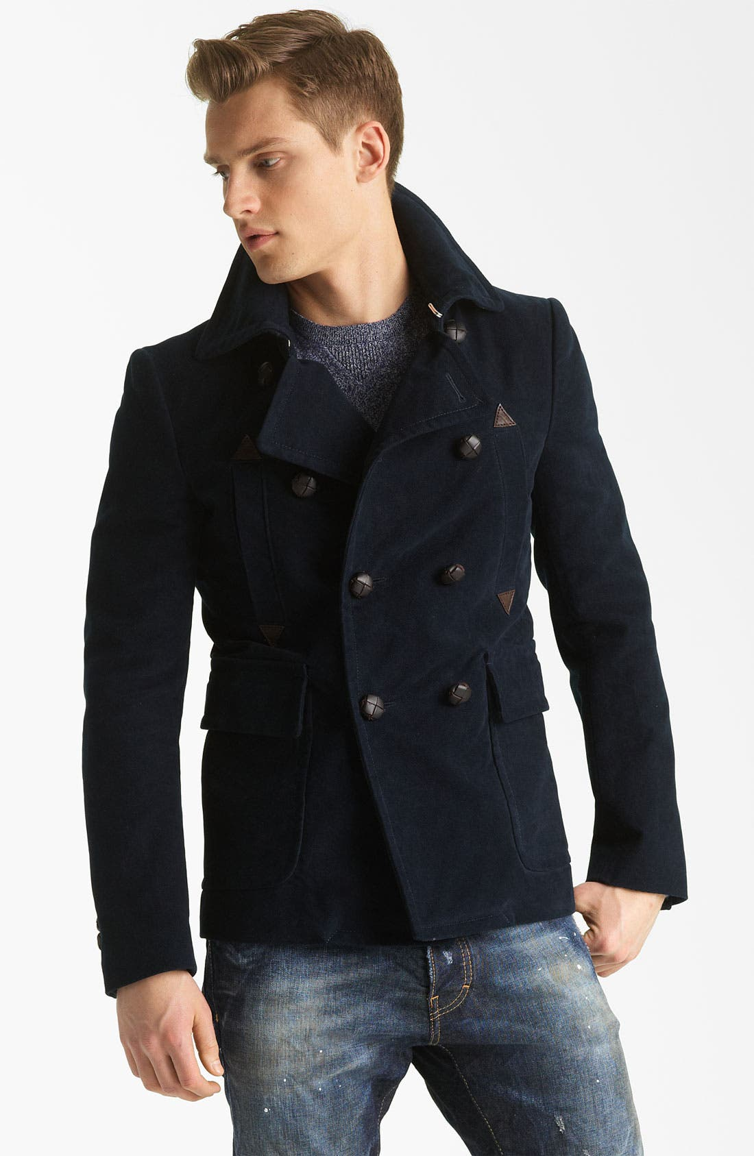 Main Image - Dsquared2 'Dean' Double Breasted Peacoat