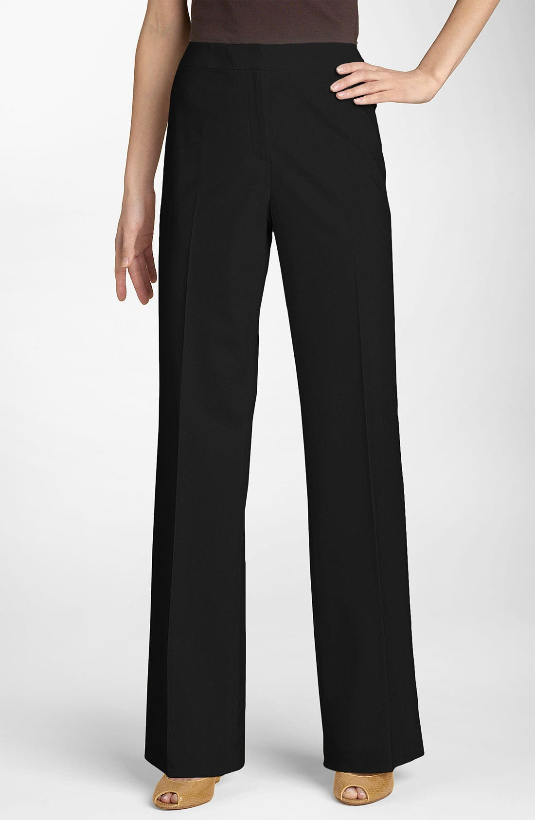 Alternate Image 1 Selected - Lafayette 148 New York 'Menswear' Trousers (Regular & Petite)