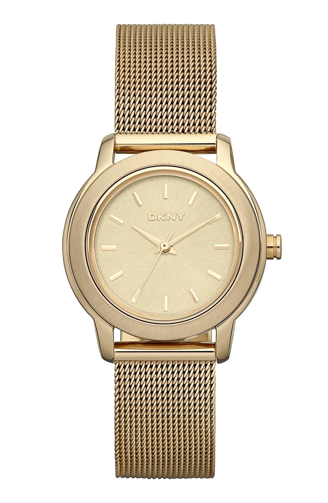 Alternate Image 1 Selected - DKNY 'Tompkins' Mesh Bracelet Watch, 28mm
