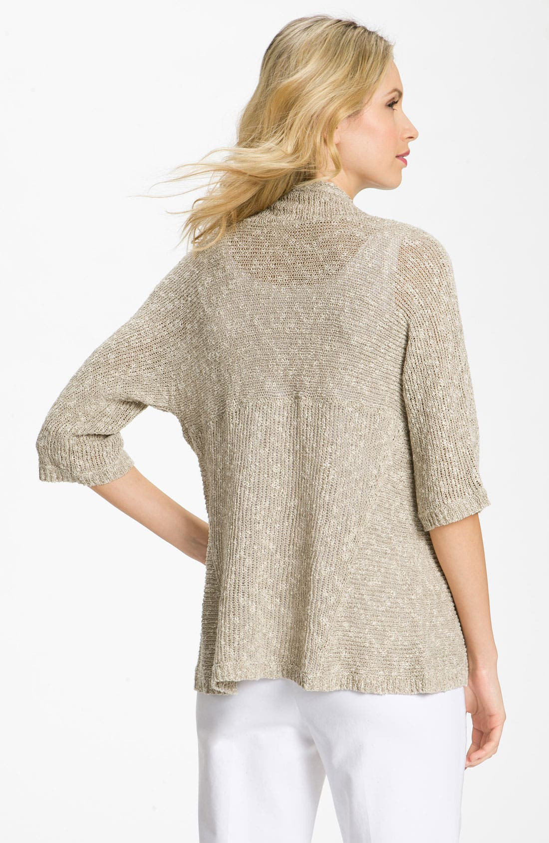 Alternate Image 2  - Eileen Fisher Shaped Cardigan (Petite)