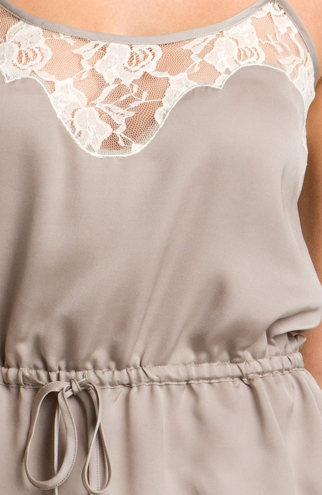 Alternate Image 3  - Frenchi® Lace Camisole (Juniors)
