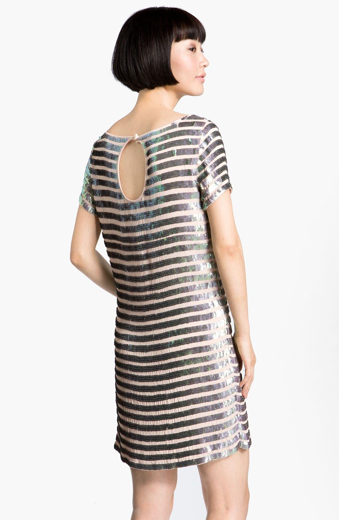 Alternate Image 2  - French Connection 'Fast Eden' Sequin Gauze Shift Dress