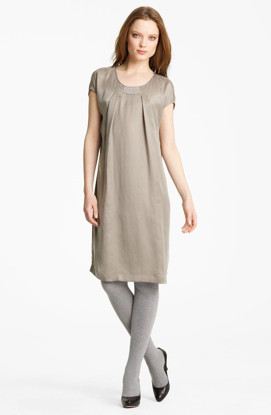 Main Image - Fabiana Filippi Embroidered Neck Dress