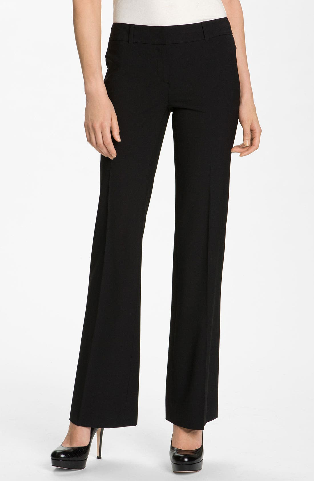 Alternate Image 1 Selected - Classiques Entier® Flare Leg Stretch Wool Pants