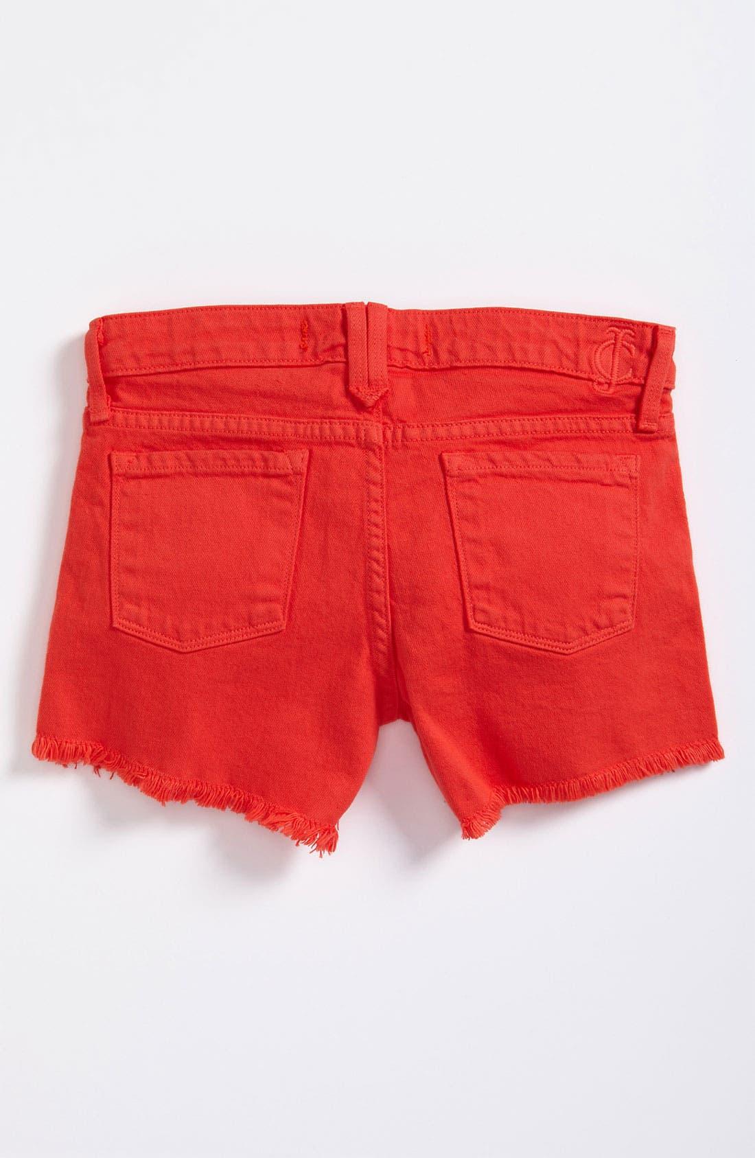 Main Image - Juicy Couture Denim Shorts (Little Girls)