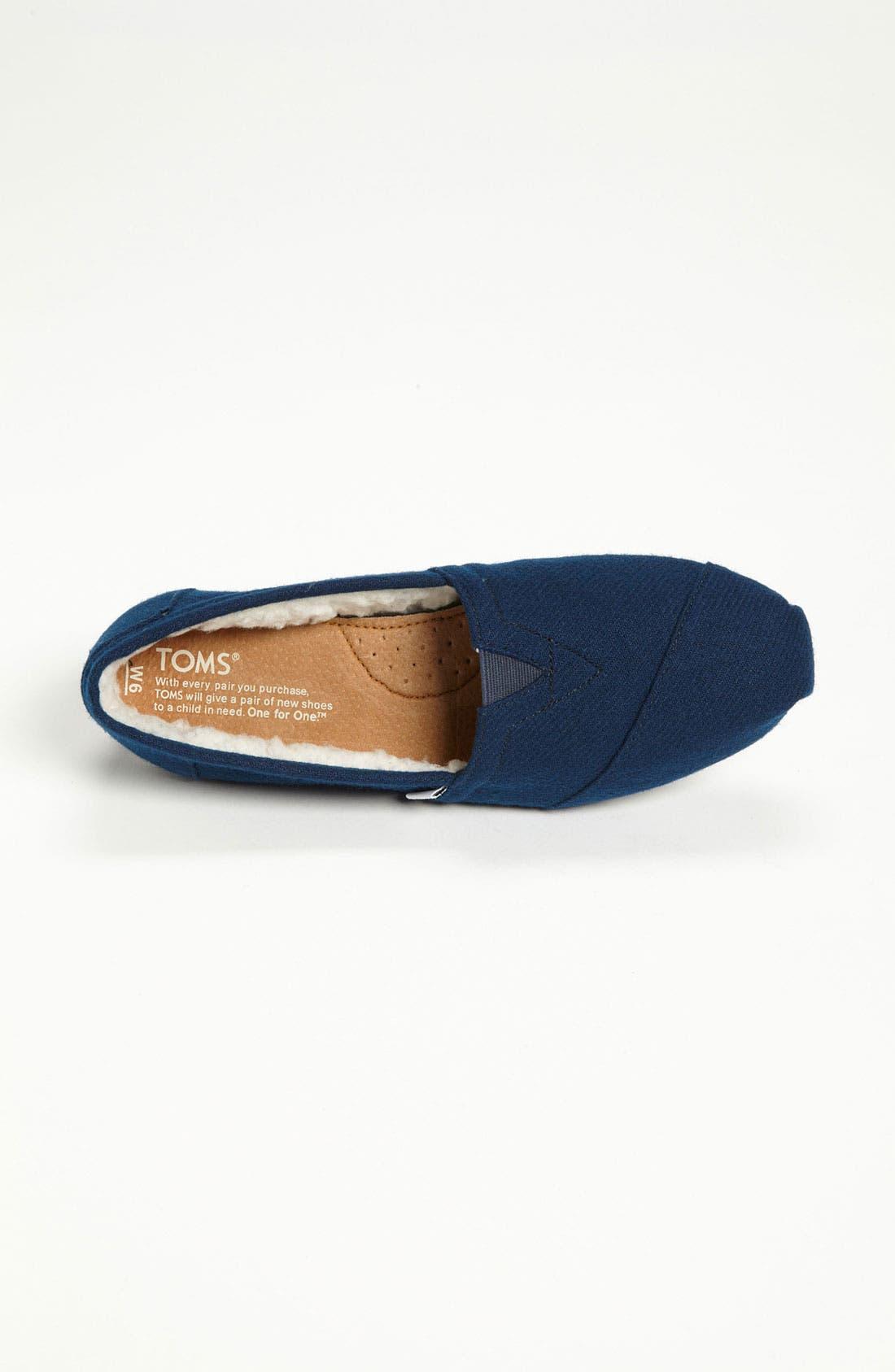 Alternate Image 3  - TOMS 'Classic' Woolen Slip-On (Women) (Nordstrom Exclusive)