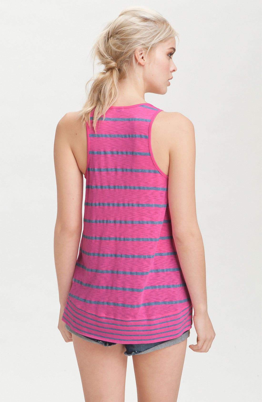 Alternate Image 2  - Splendid Contrast Stripe Hem Tank