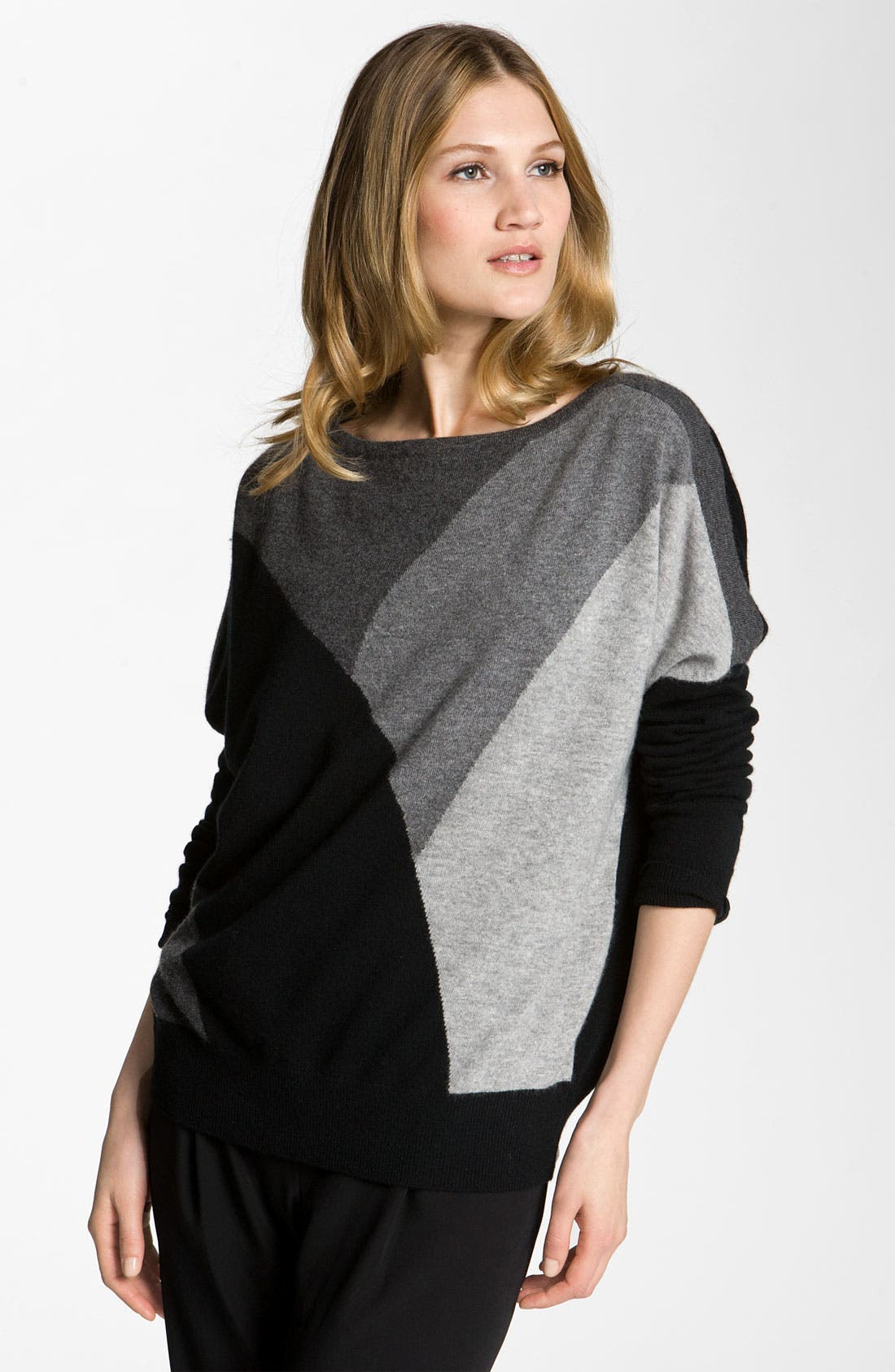 Alternate Image 1 Selected - Nordstrom Collection Colorblock Cashmere Sweater