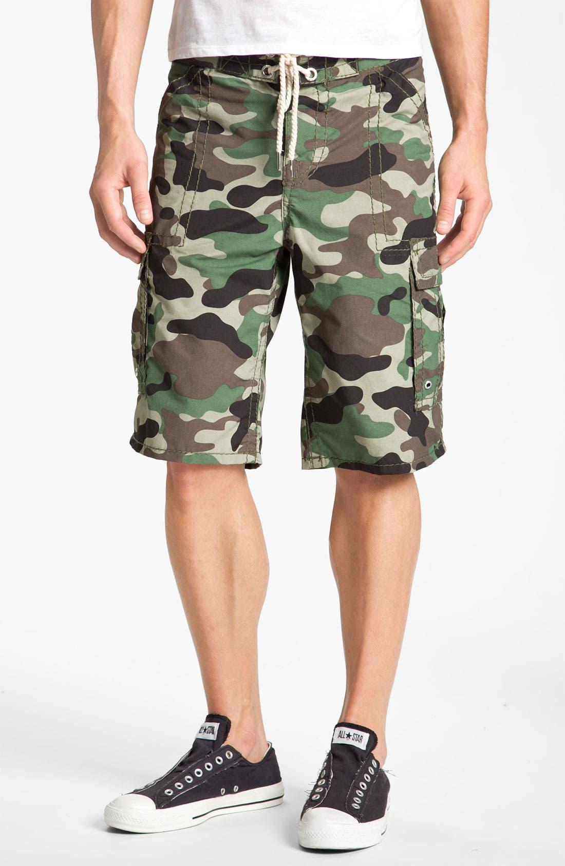 Alternate Image 1 Selected - True Religion Brand Jeans Camo Cargo Shorts