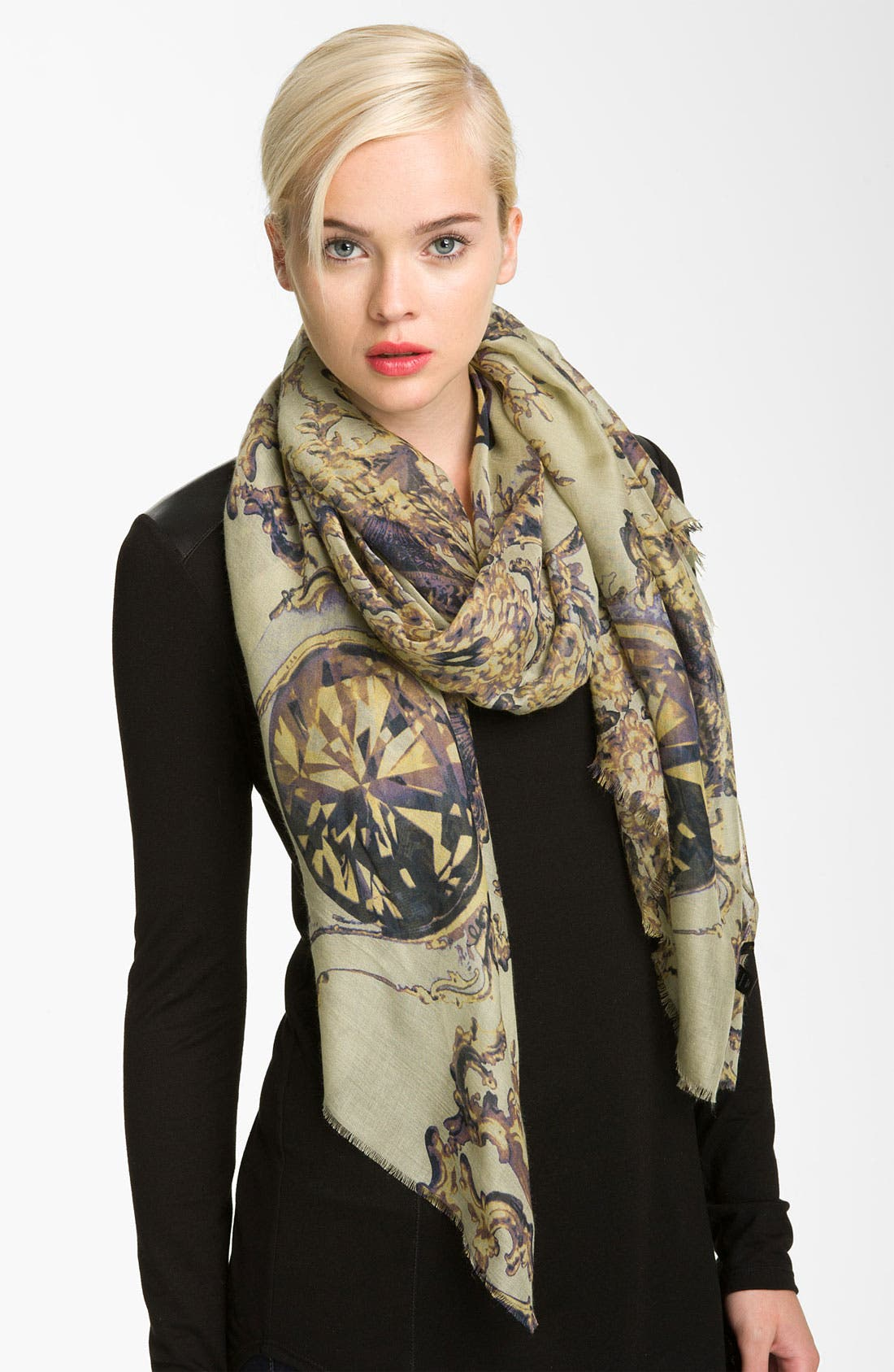 Main Image - Tarnish 'Baroque Gem' Scarf