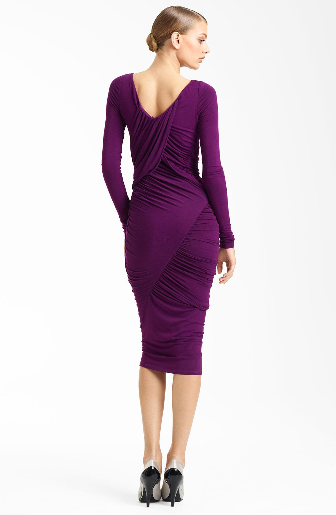 Alternate Image 2  - Donna Karan Collection Ruched Jersey Dress