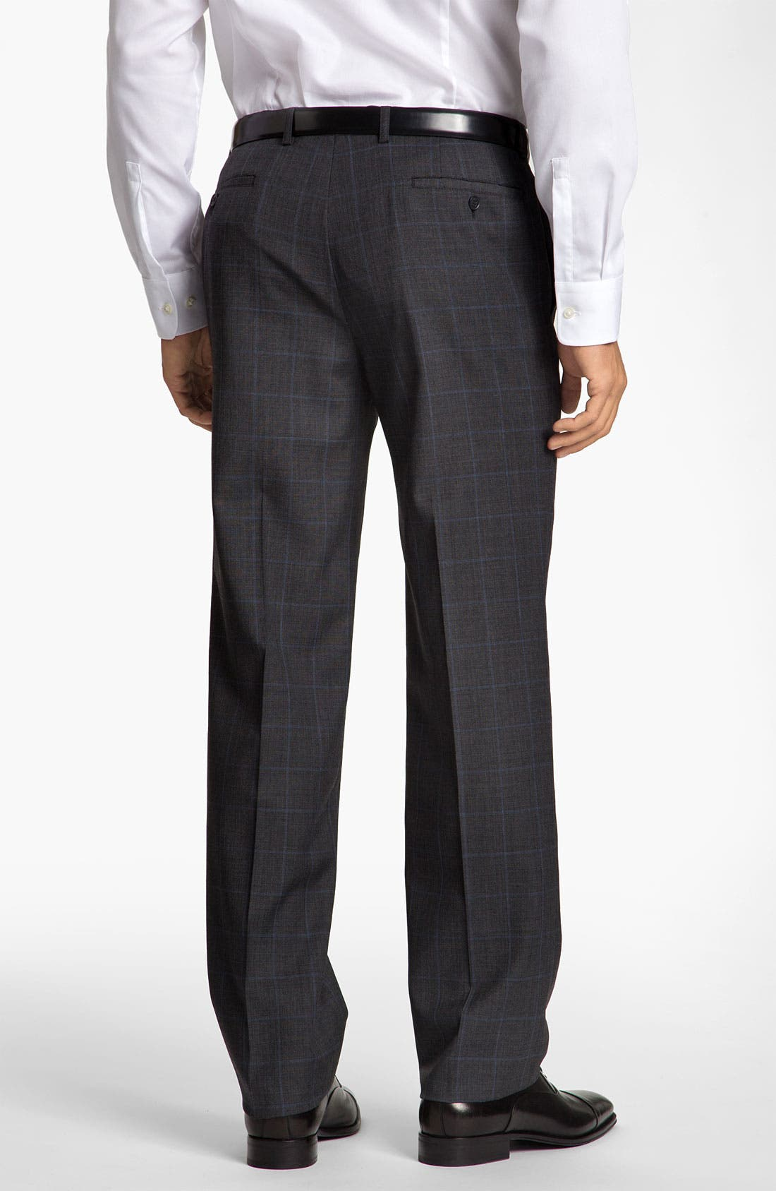 Alternate Image 2  - Calibrate Flat Front Plaid Wool Pants