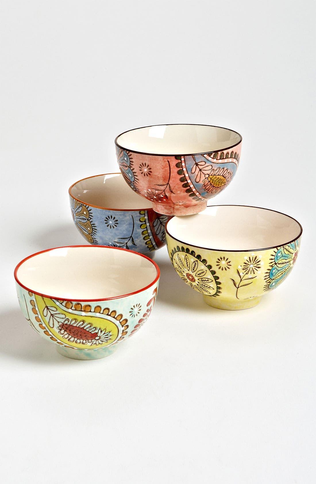 Main Image - Hand Painted Paisley Bowls (Set of 4)