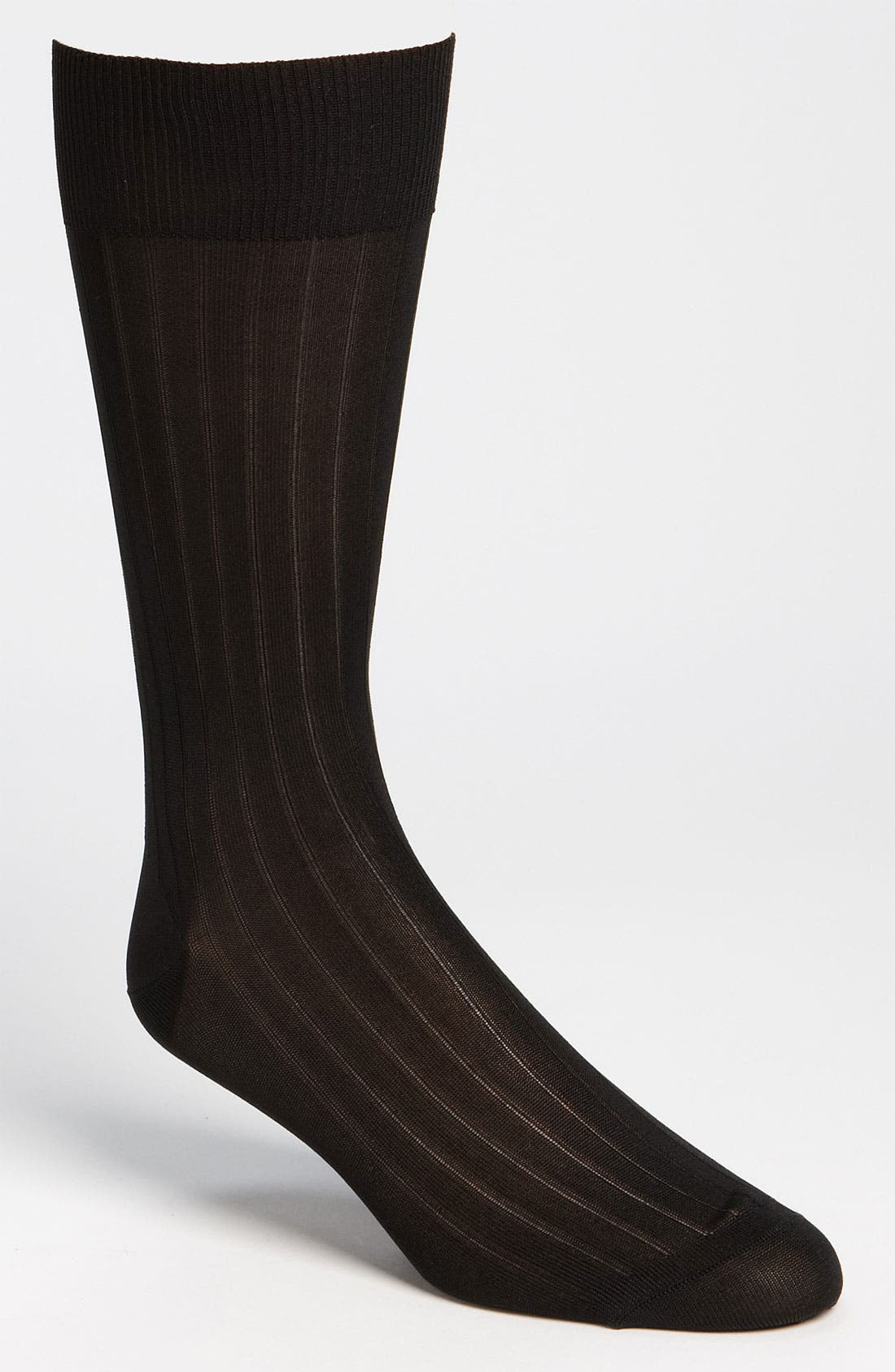Main Image - Pantherella Silk Ribbed Mid Calf Formal Socks (Online Only)