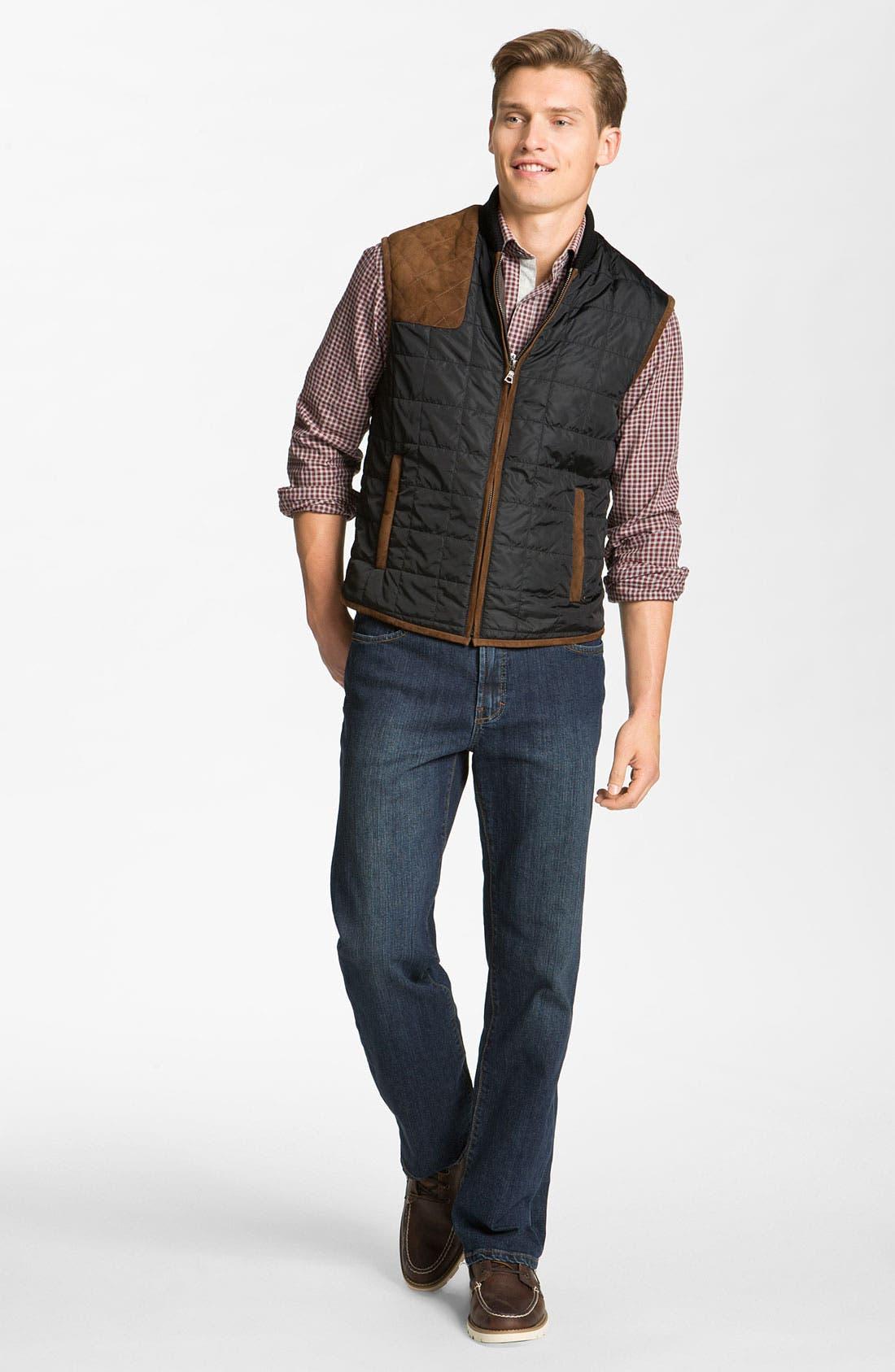 Alternate Image 4  - Worn Jeans 'Octane' Straight Leg Jeans (Clean Dark)