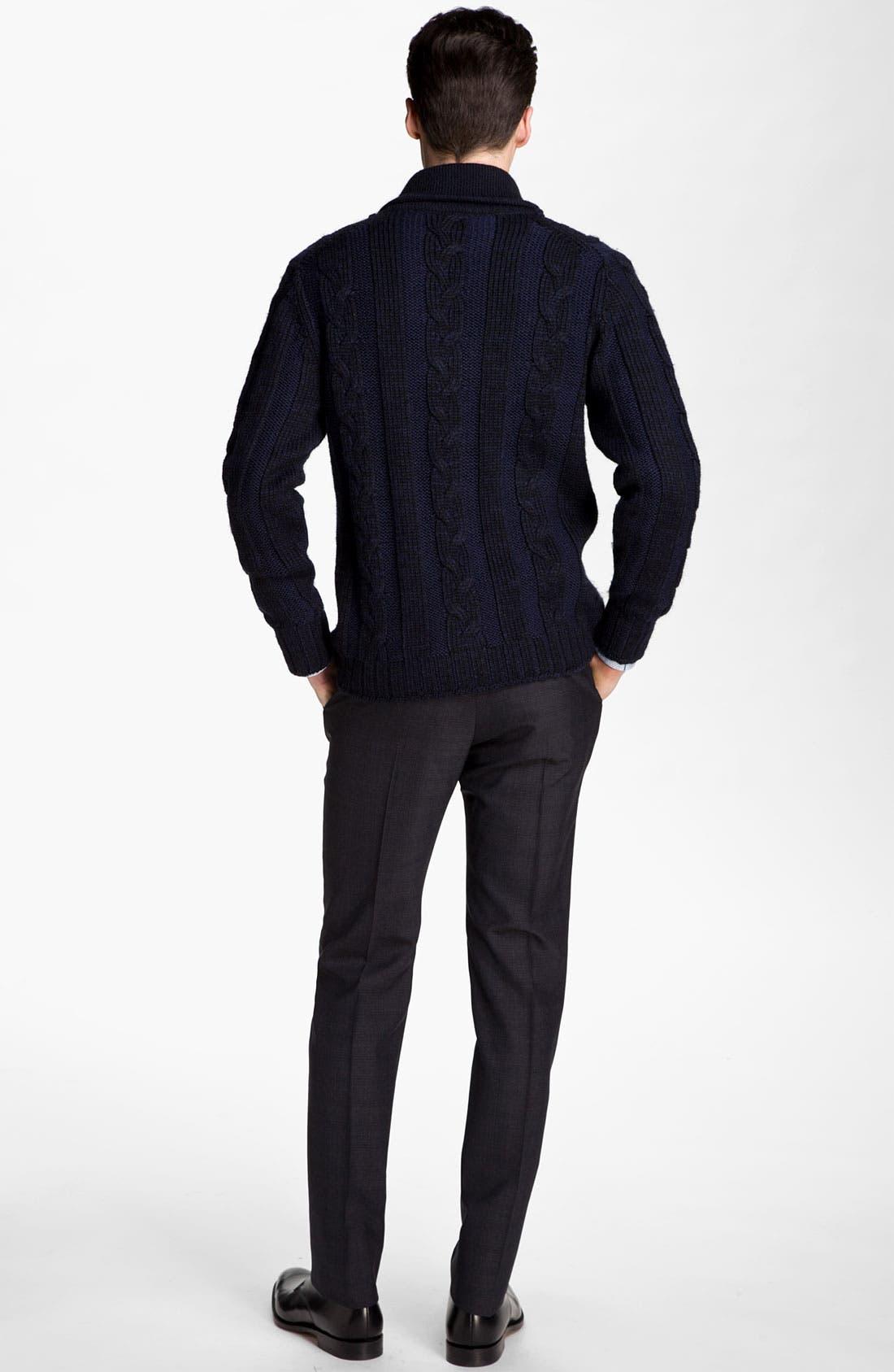 Alternate Image 1 Selected - Paul Smith London Sweater, Dress Shirt & Trousers