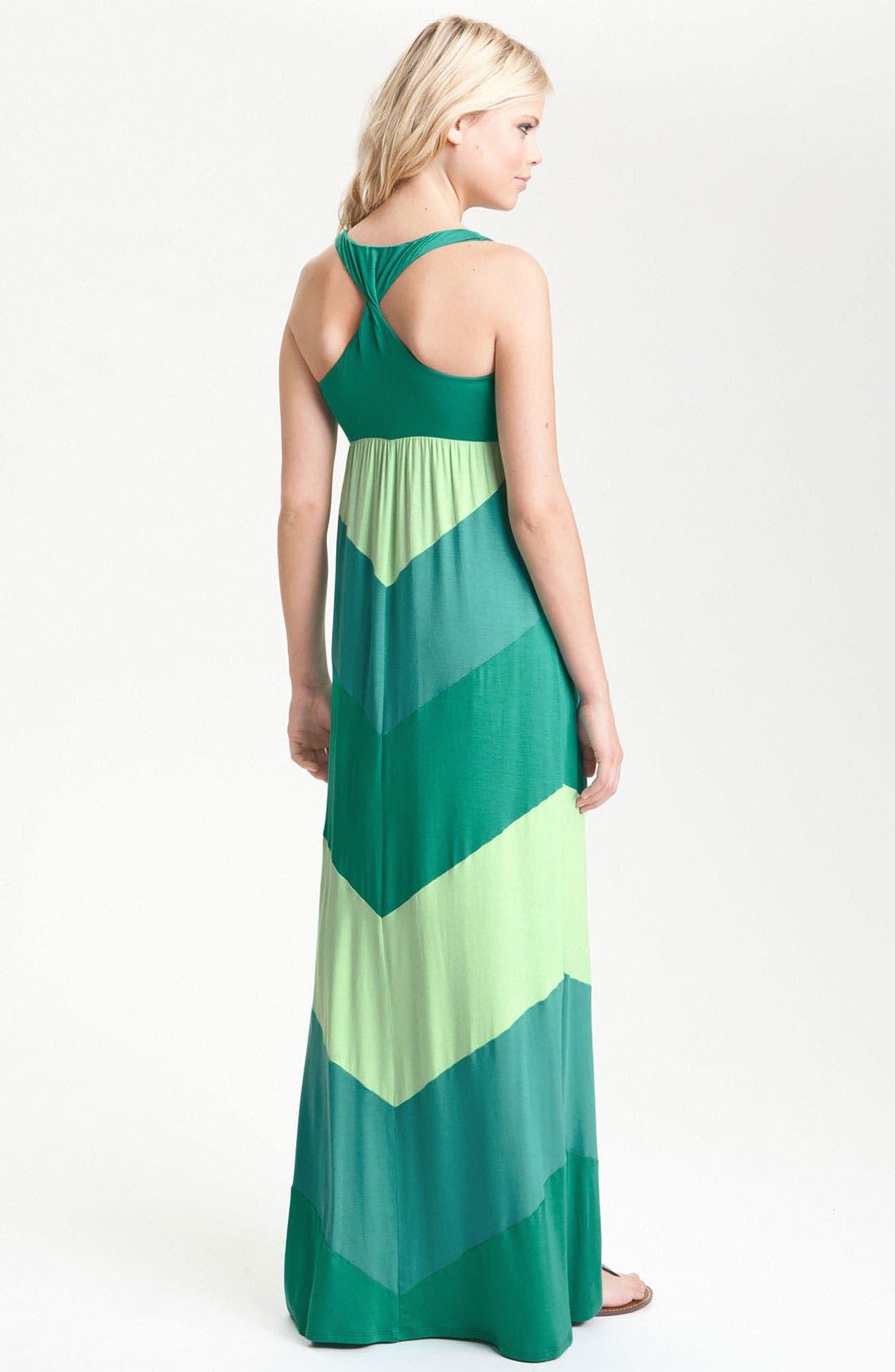 Alternate Image 2  - Ella Moss 'Celia' Racerback Colorblock Maxi Dress