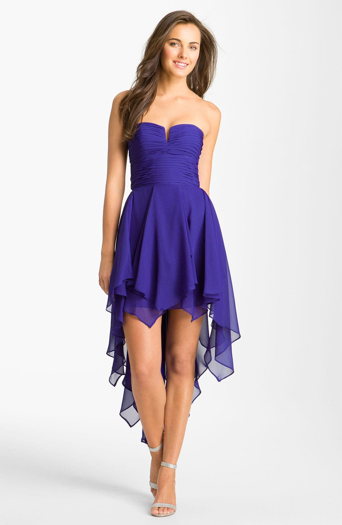 Alternate Image 1 Selected - Hailey by Adrianna Papell Notched Bodice Chiffon Dress