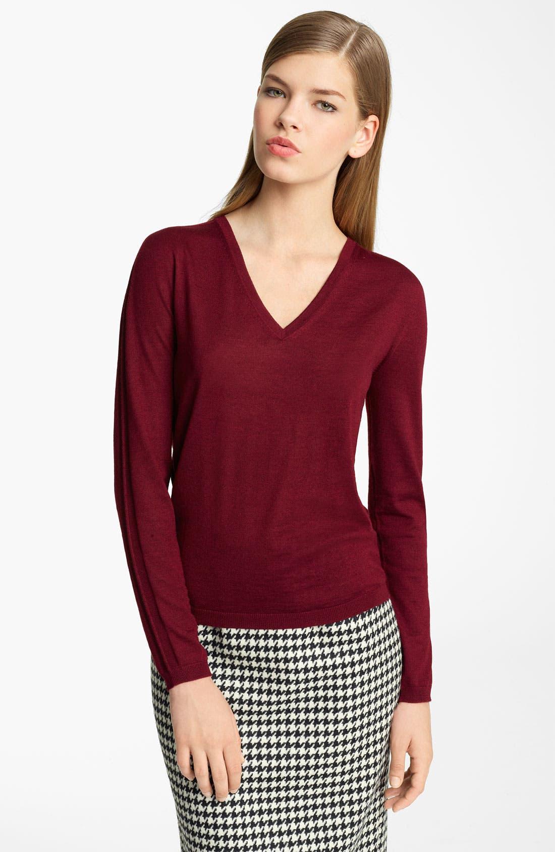 Main Image - Jil Sander Stripe Sleeve Knit Sweater