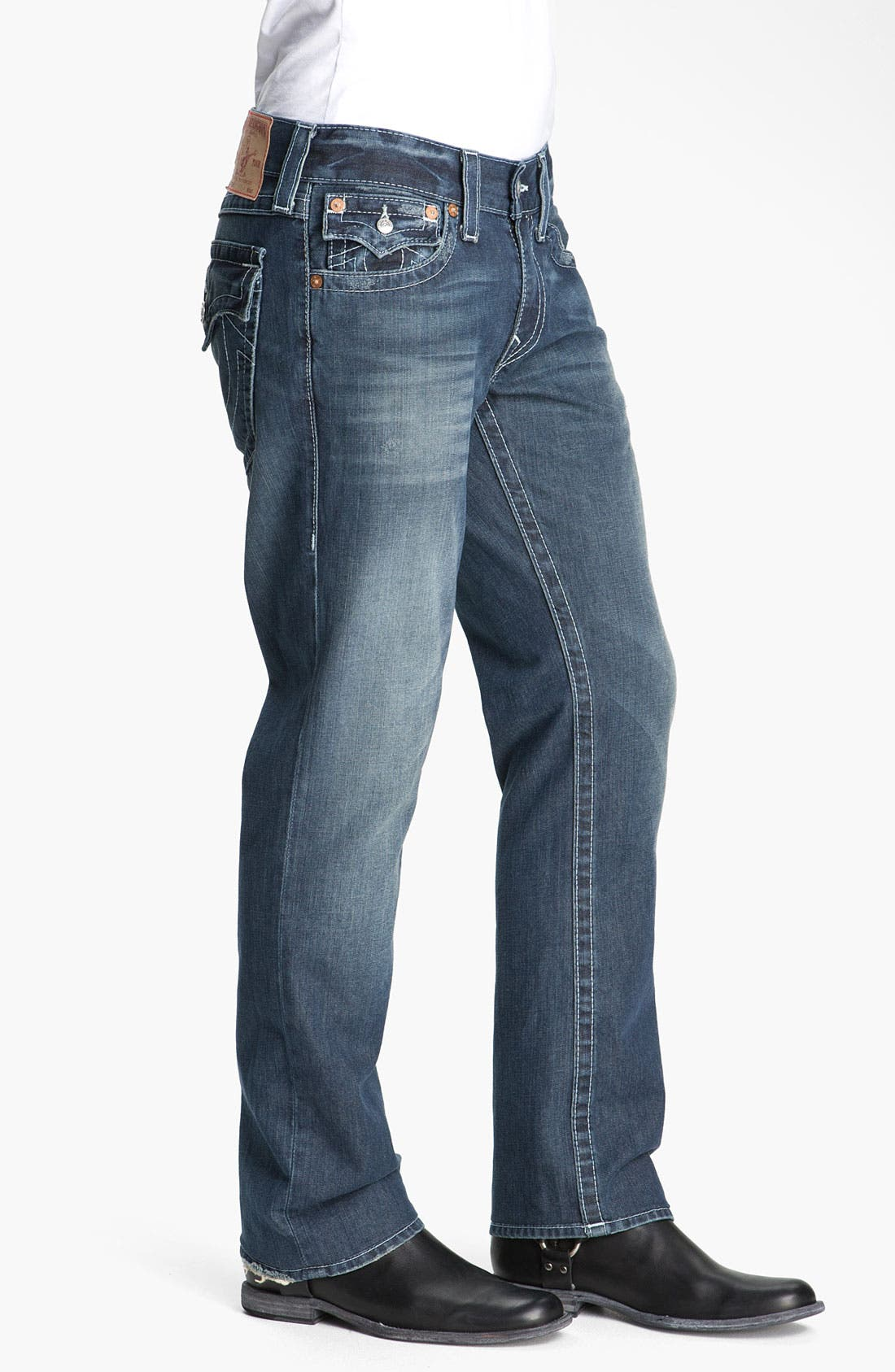 Alternate Image 3  - True Religion Brand Jeans 'Ricky - Natural' Straight Leg Jeans (Surfer Dark)