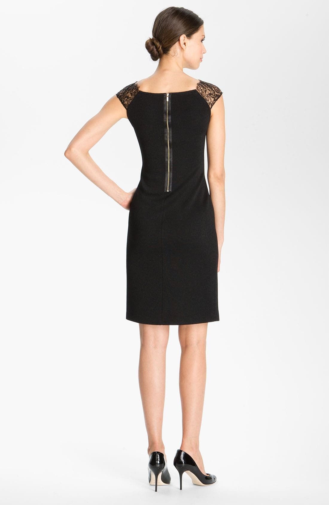 Alternate Image 2  - St. John Collection Shimmer Milano Knit Dress