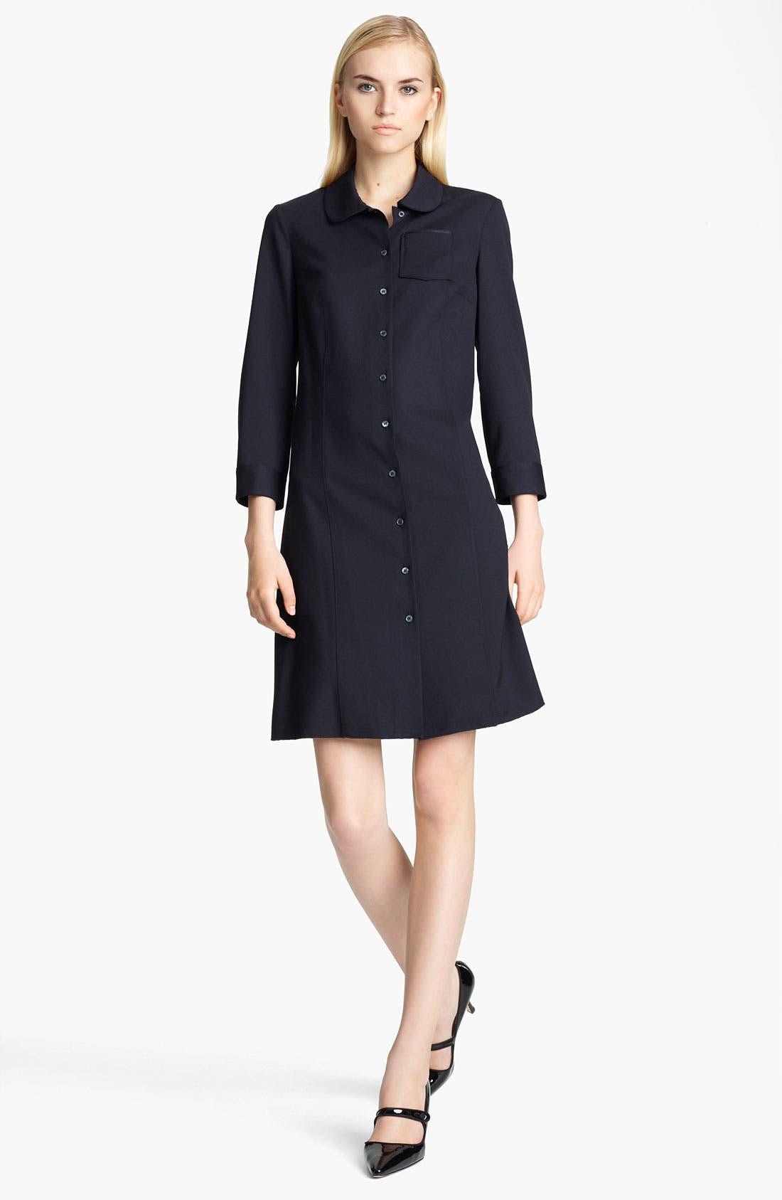Main Image - Jil Sander Navy Stretch Wool Shirtdress