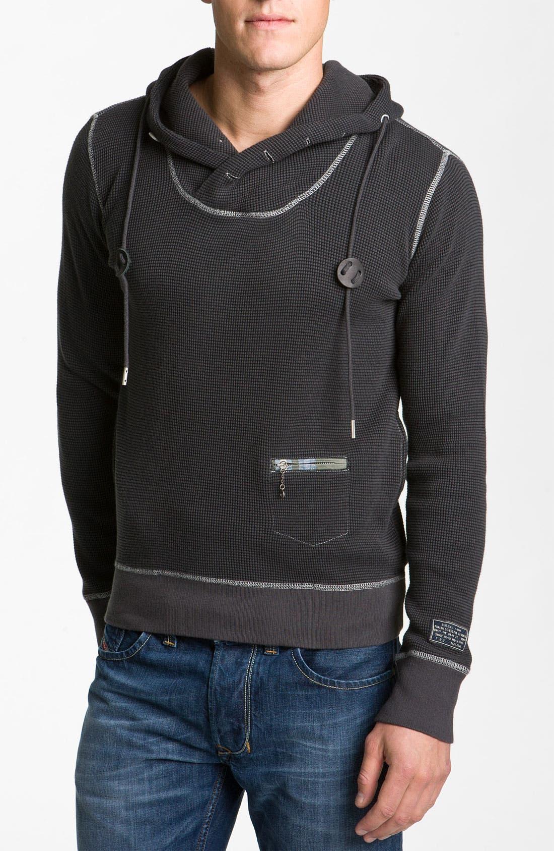 Alternate Image 1 Selected - DIESEL® 'Sybill' Fleece Pullover Sweatshirt