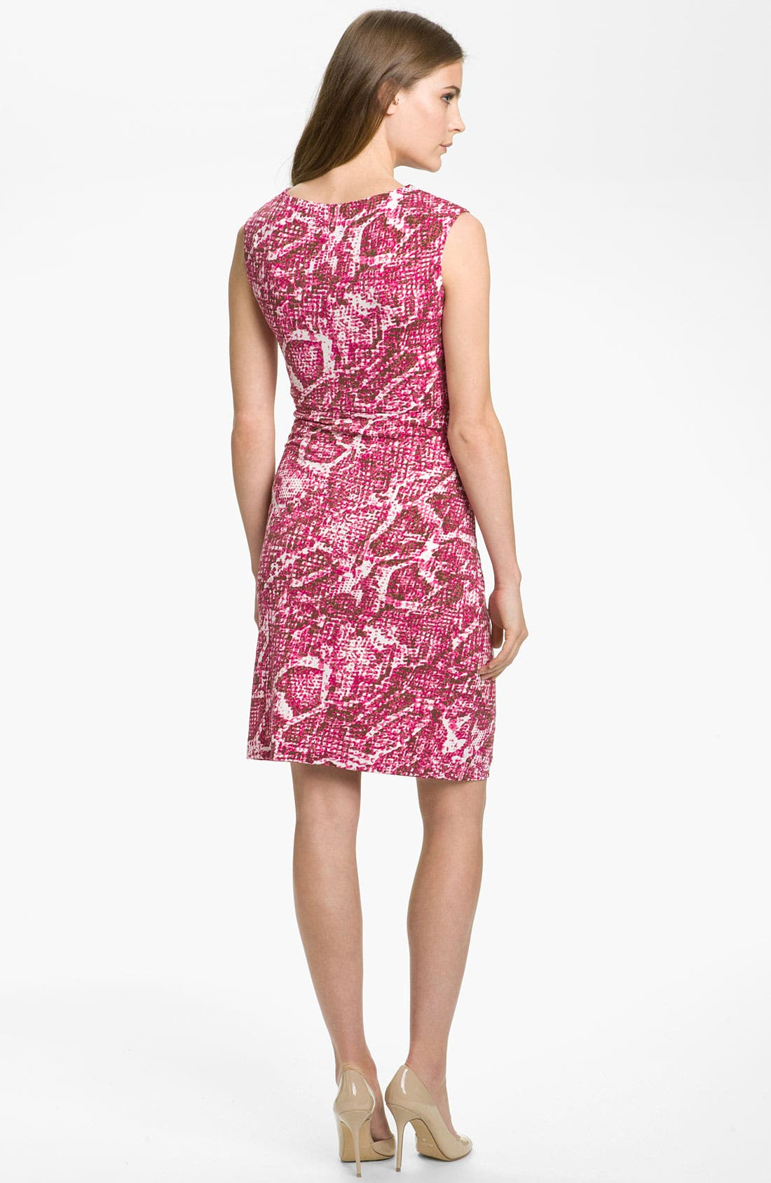 Alternate Image 2  - Chaus Snakeskin Print Twist Front Knit Dress