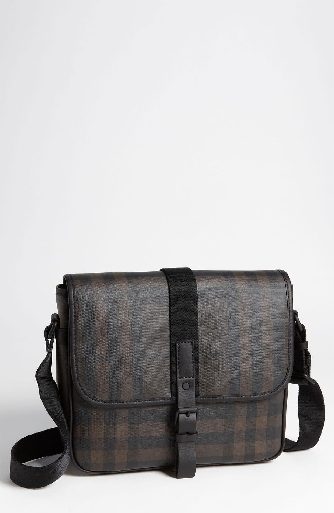 Main Image - Burberry Check Print Messenger Bag