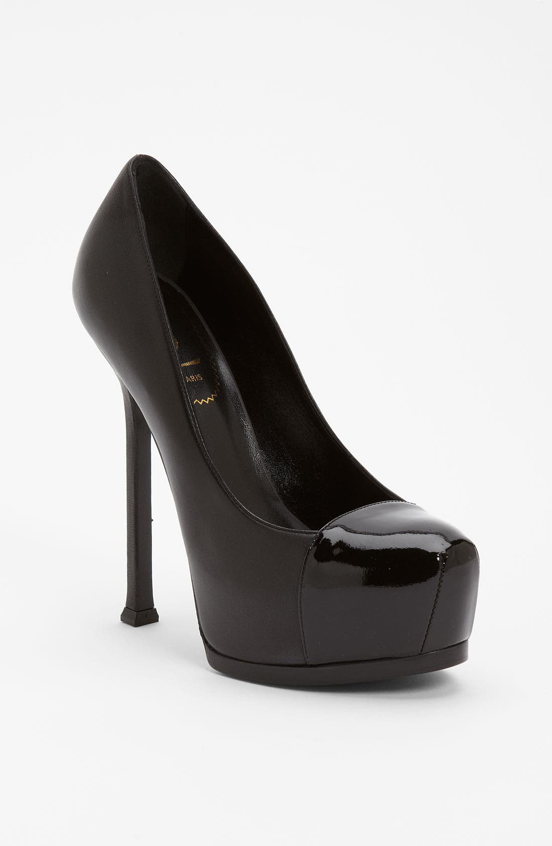 Main Image - Yves Saint Laurent 'Tribtoo' Cap Toe Ultra High Platform Pump