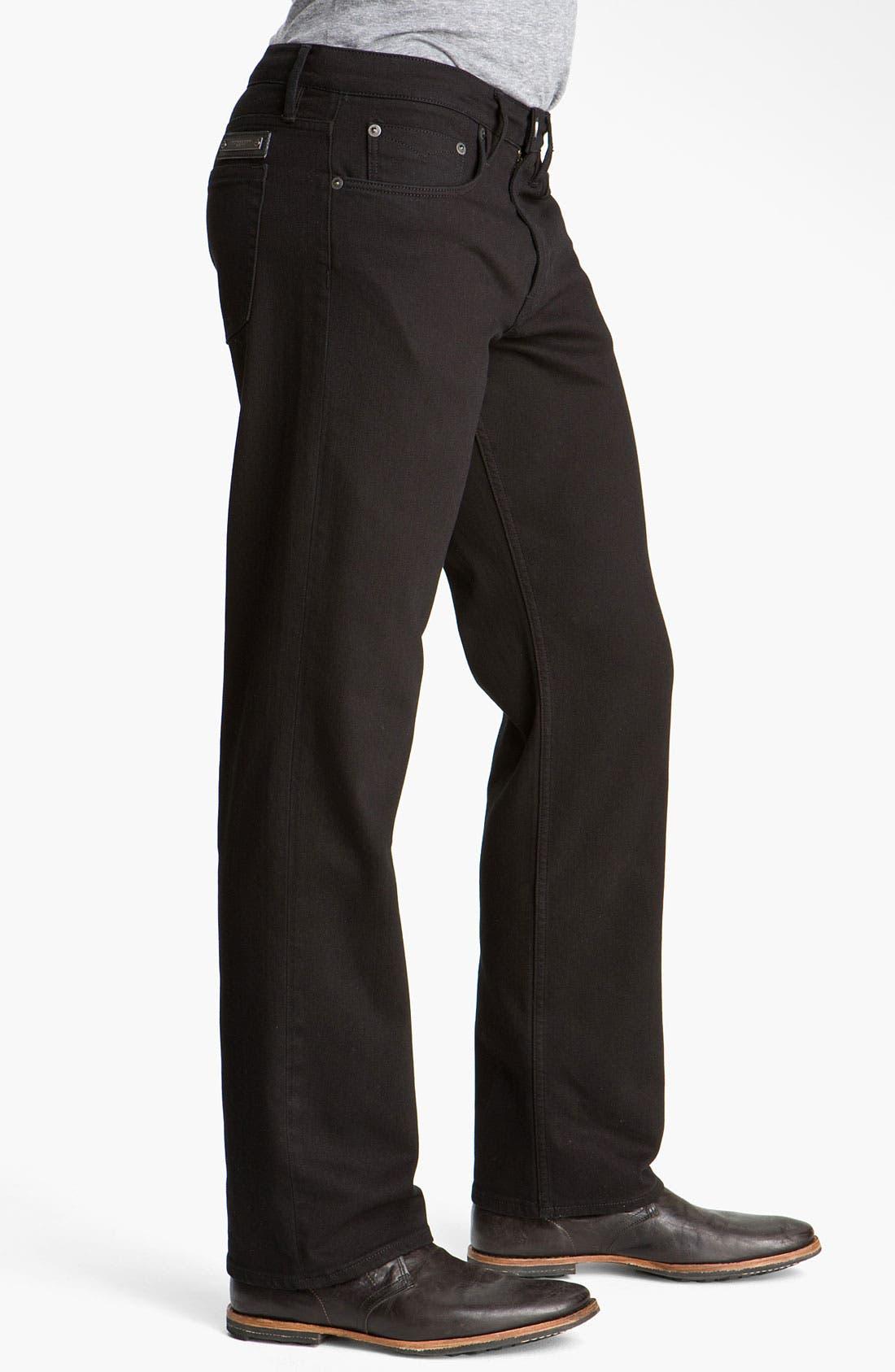Alternate Image 3  - Burberry Brit Stretch Denim Jeans (Clean Black)