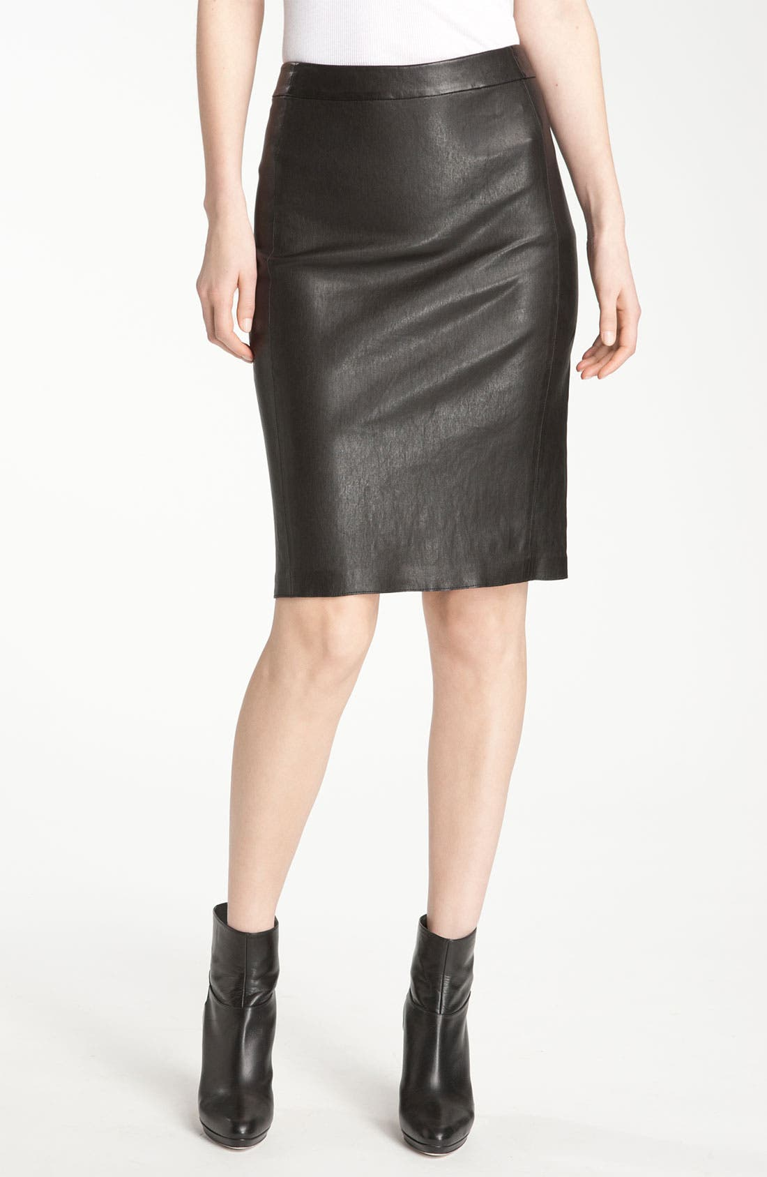Main Image - Vince Leather Pencil Skirt