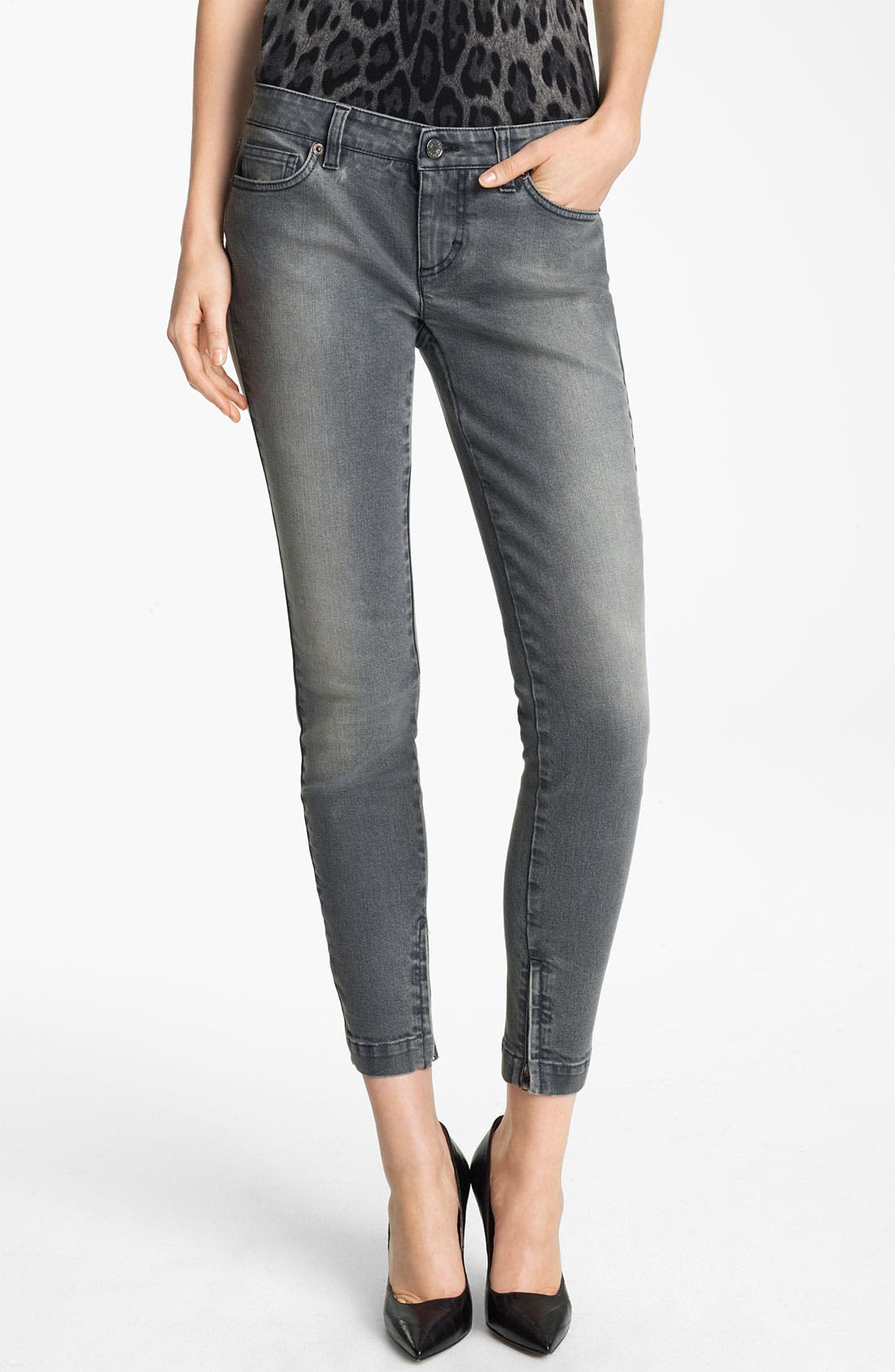 Alternate Image 1 Selected - Dolce&Gabbana Skinny Ankle Zip Jeans